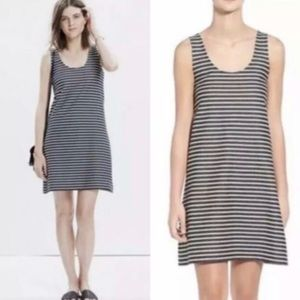 Madewell Black & White Striped Tank Dress